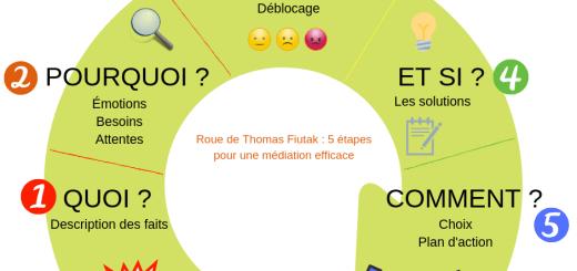 roue de Thomas Fiutak : 5 étapes pour une médiation efficace