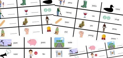 Cartes des homophones français