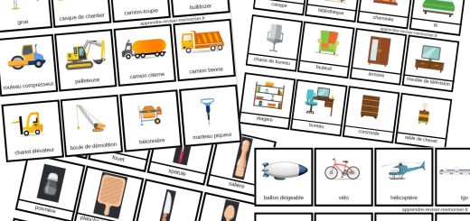 carte vocabulaire montessori