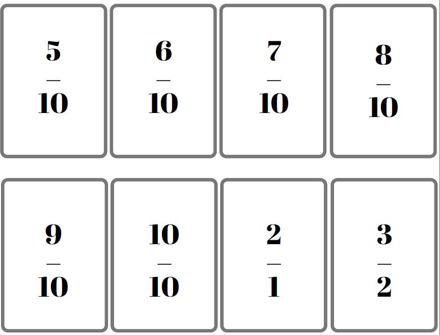 jeu de bataille des fractions