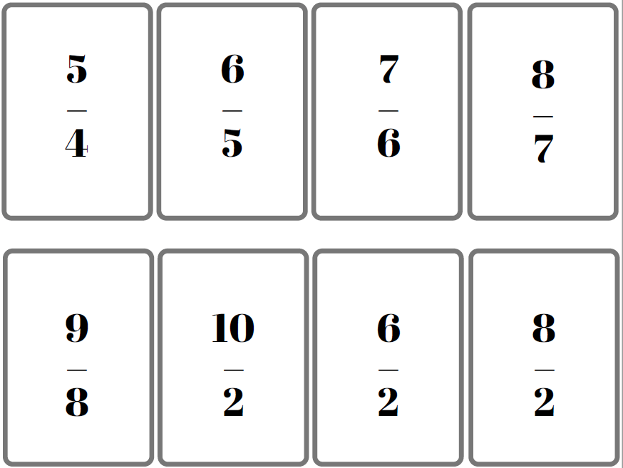 jeu de bataille fractions