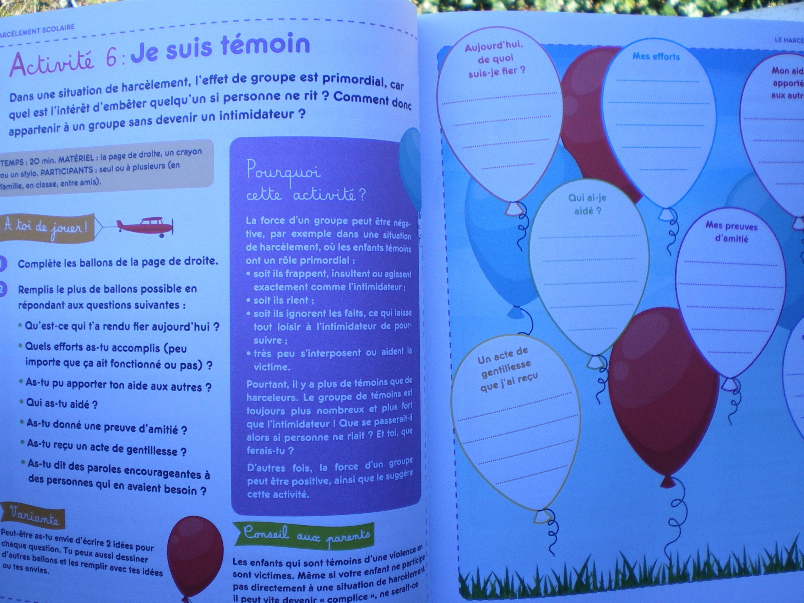 activités bienveillantes prévenir harcèlement école enfants