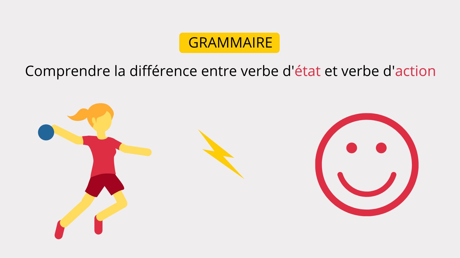 Grammaire Comprendre La Difference Entre Verbe D Etat Et Verbe D Action Apprendre Reviser Memoriser
