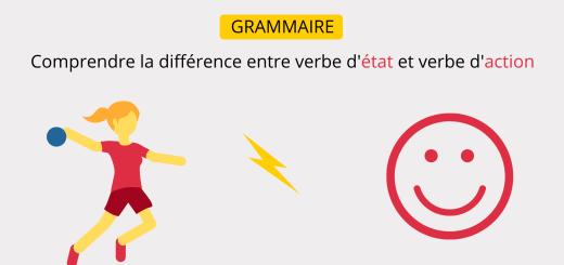 différence entre verbe d'état et verbe d'action