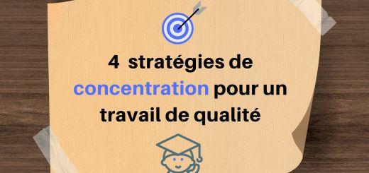 stratégies de concentration travail