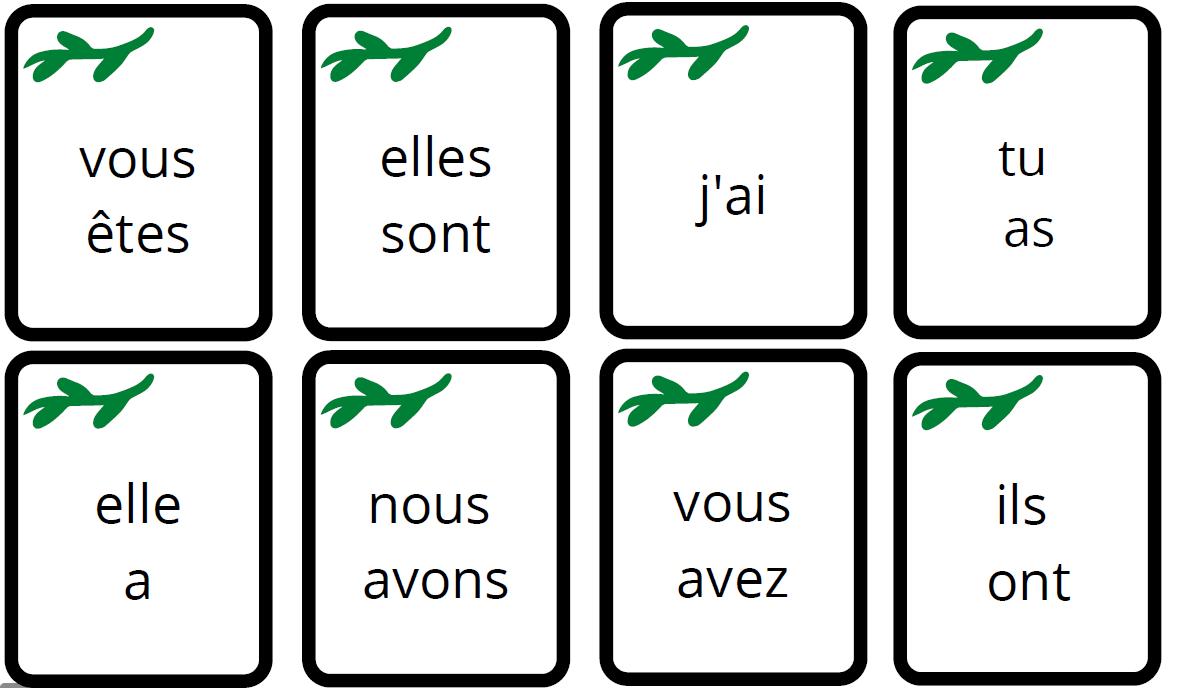 jeu conjugaison présent indicatif