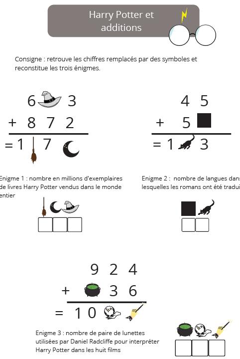 énigme mathématiques enfants