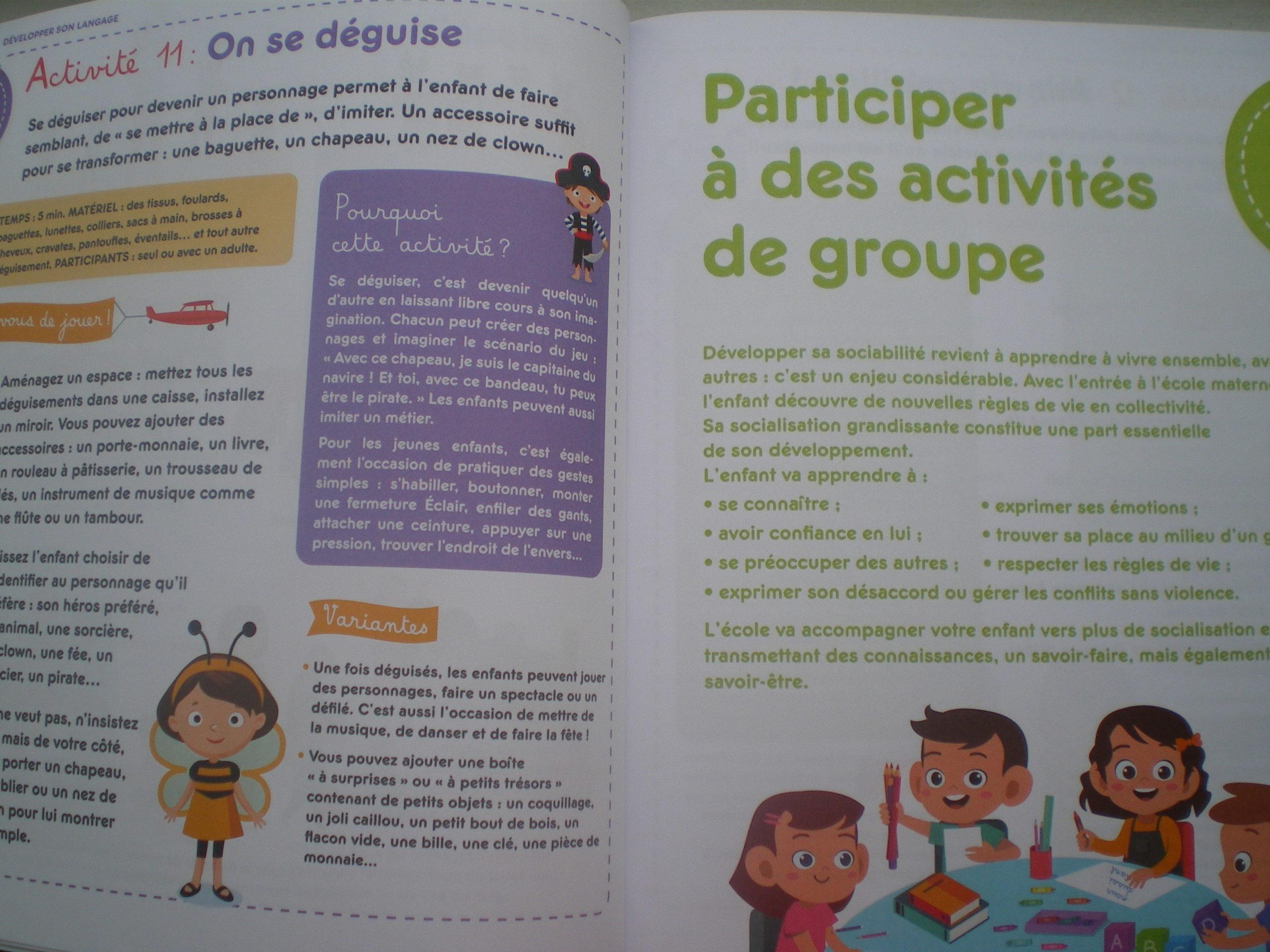activités bienveillantes préparer entrée école maternelle
