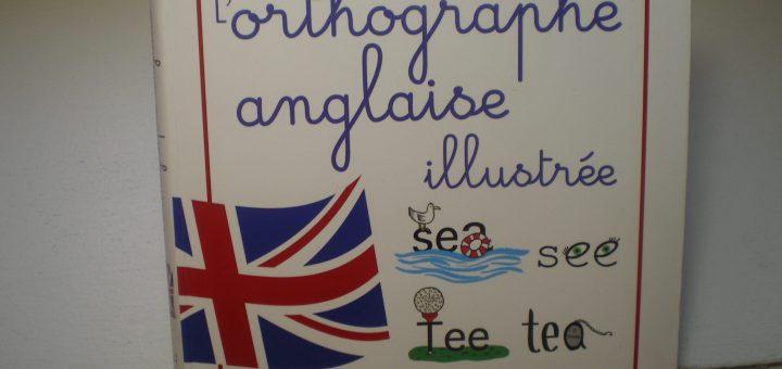 planche de dessins orthographe illustrée anglais