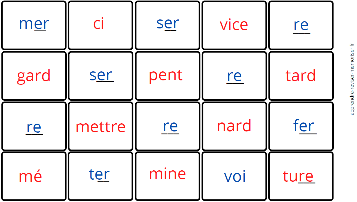 dominos graphèmes complexes inversés