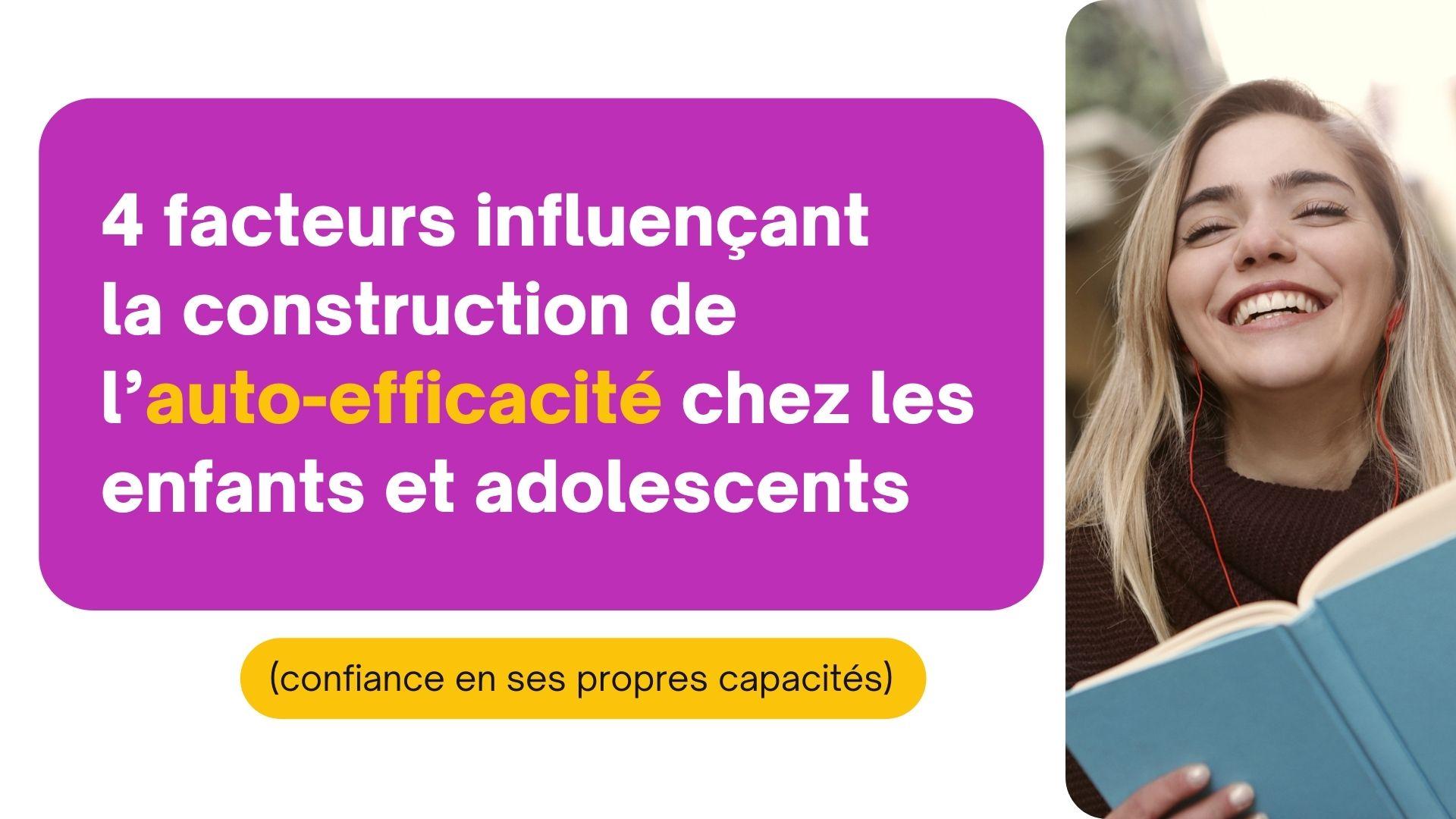 construction de l'auto-efficacité enfant adolescents