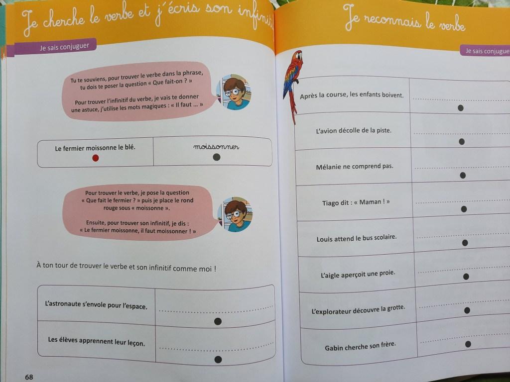 cahier activités montessori faute orthographe