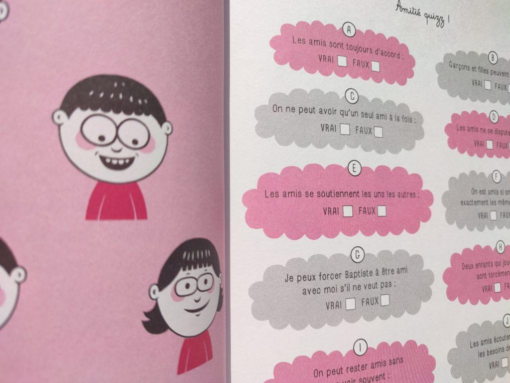 cahier amitié enfants