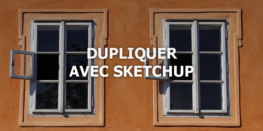Dupliquer un objet sur sketchup