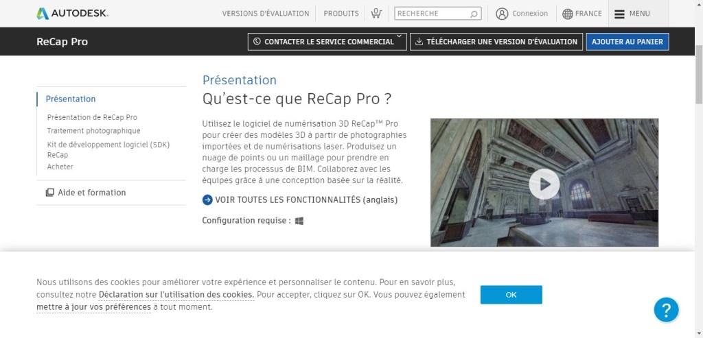 Autodesk Recap Pro - Appli 3D de photogrammétrie