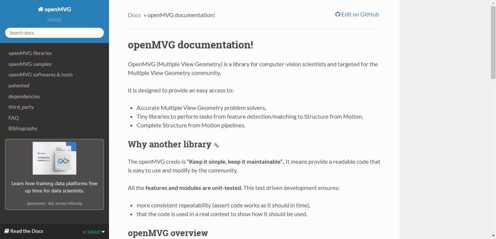 OpenMVG - Appli 3D de Photogrammétrie