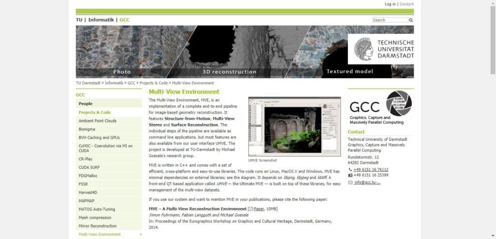 Multi-view Environment - Appli 3D de photogrammétrie