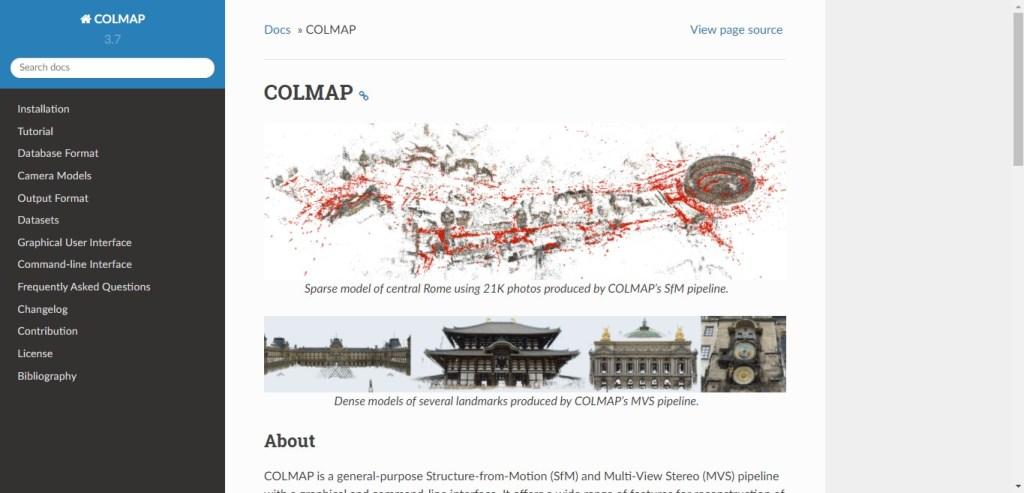 Colmap - appli 3D de photogrammétrie