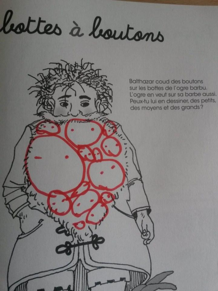 e très très gros cahier d'activités de Balthazar Montessori