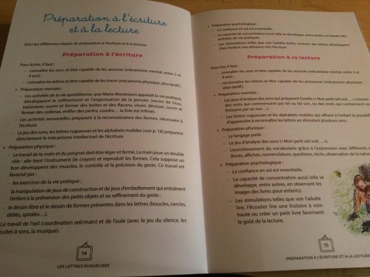 lettres rugueuses livret d'activités Montessori