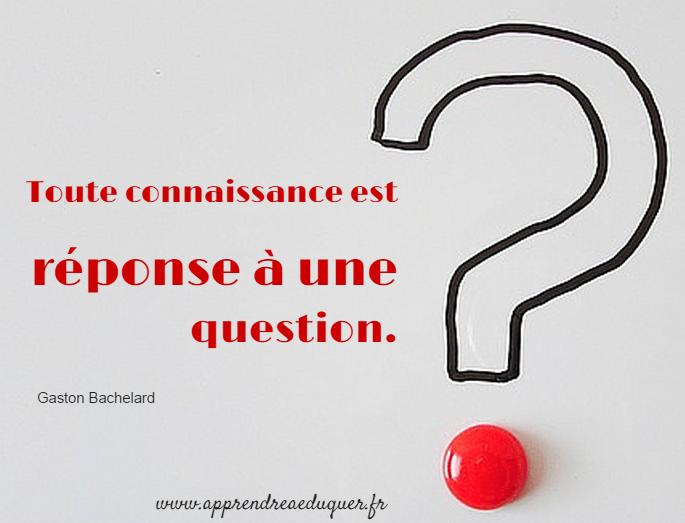 tout connaissance est réponse à une question