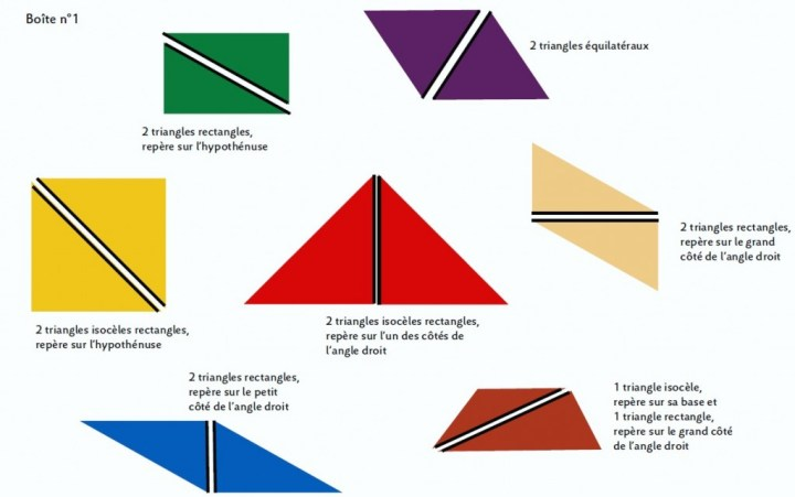 triangles constructeurs montessori