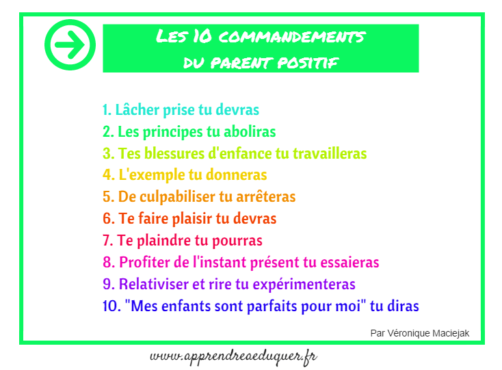les 10 commandements du parent positif