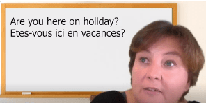 are you here on holiday