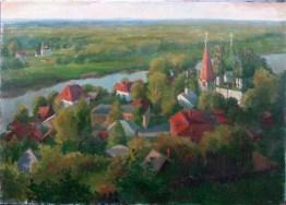 Le soir d'été en Russie 60x70 peinture à l'huile