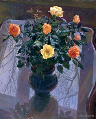 Les roses. 50x60 peinture à l'huile