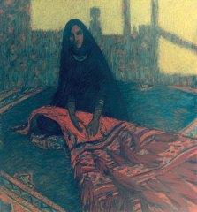 Femme bédouinne. Série sur la terre éternelle 55x65 pastel sur carton