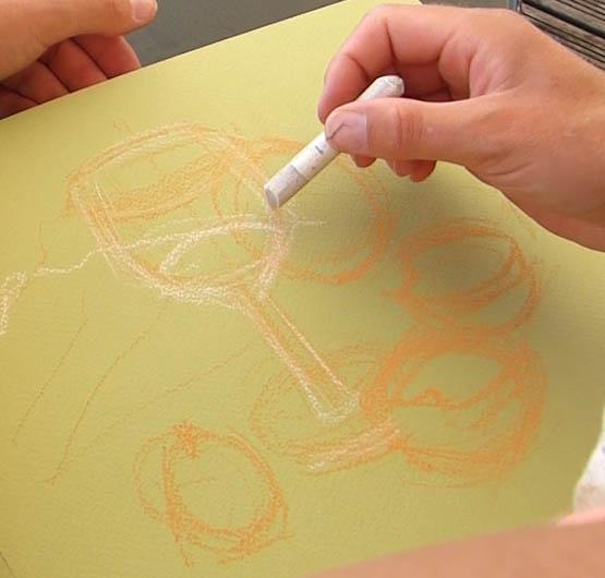 peindre un verre transparent au pastel. la précision