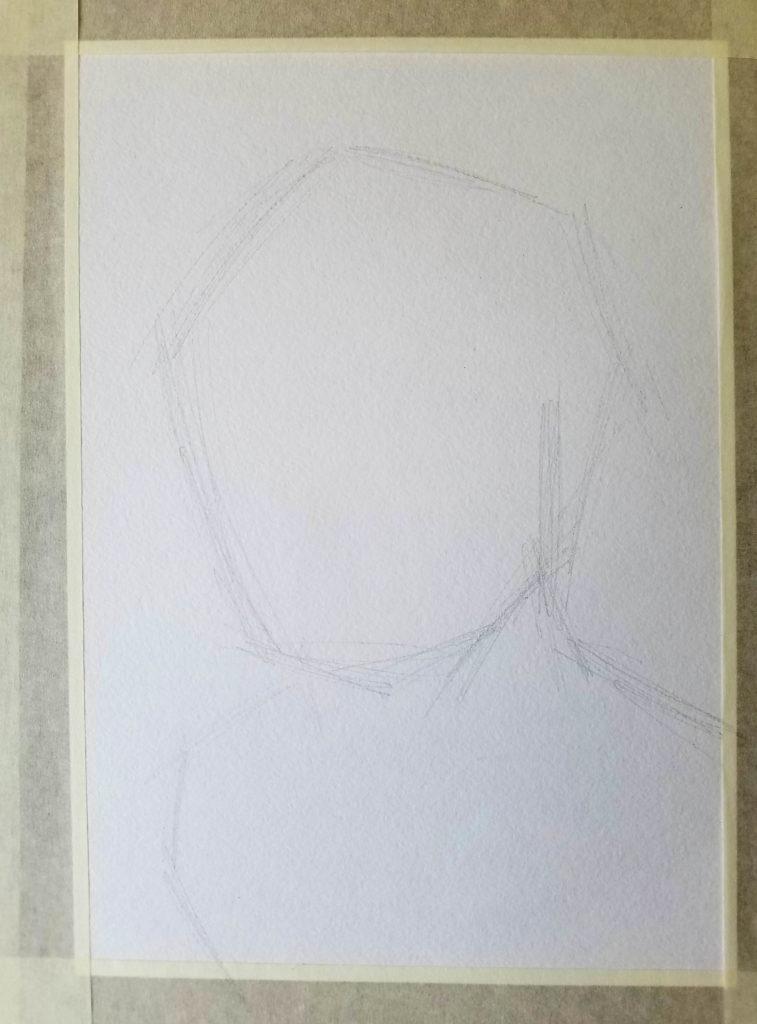 portrait d'un enfant. Etape 1