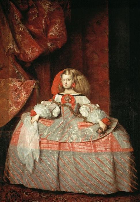 L'infante Marguerite en robe rose. (1660)