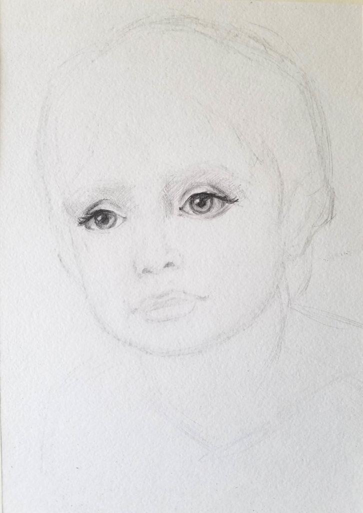 portrait d'un enfant. les détails