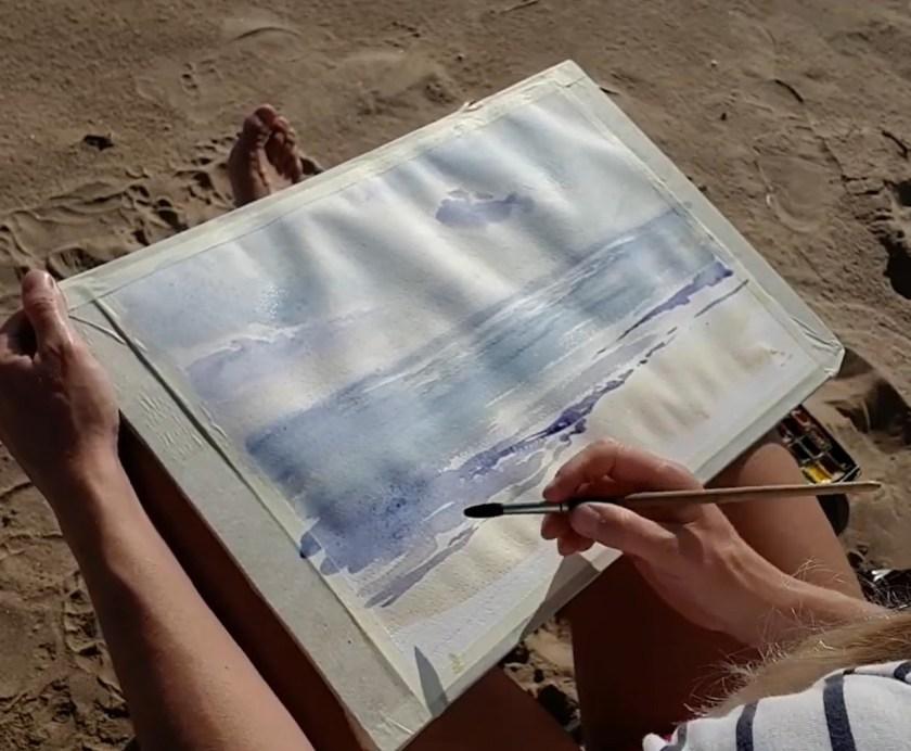 Comment peindre la mer. la première couche