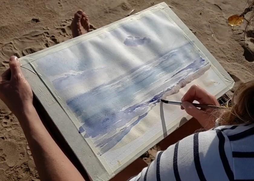 Peindre la mer. Les ombres