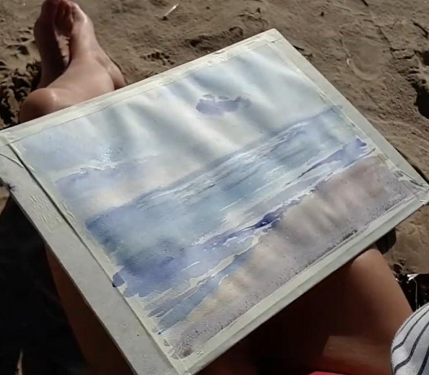 La mer avec ses reflets