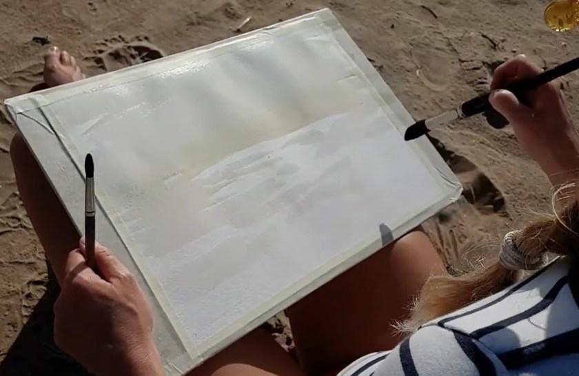 Par quoi commencer peindre la mer