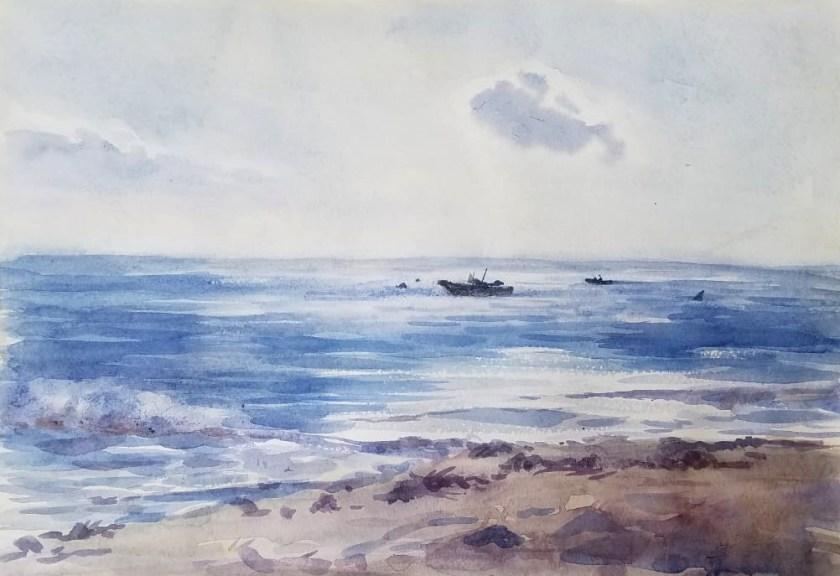 Comment peindre la mer en aquarelle