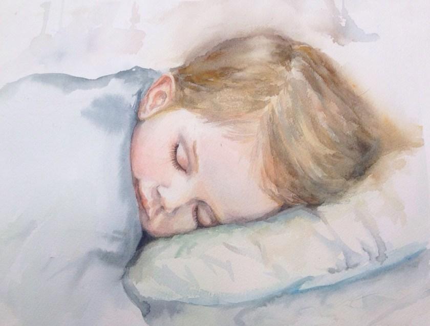 Portrait réalisé avec l' aquarelle White Night