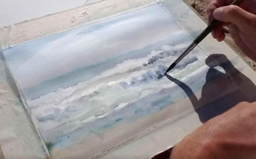Comment peindre les vagues à l'aquarelle. Le volume des vagues.