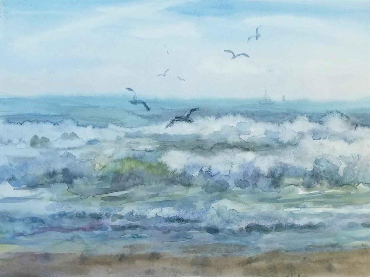 Comment peindre les vagues à l'aquarelle