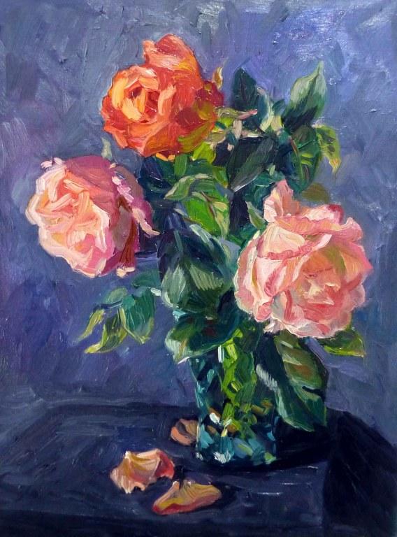 Comment peindre les roses à l'huile