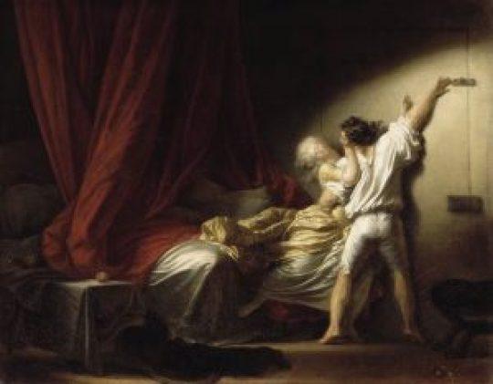 Le verrou, HST, 73 x 93 cm, musee du Louvre