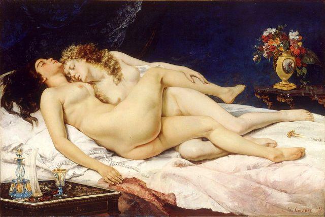 gustave-courbet-le-sommeil-les-deux-amies-et-paresse-et-luxure-1866-huile-sur-toile-135-x-200-cm-musee-du-petit-palais-paris