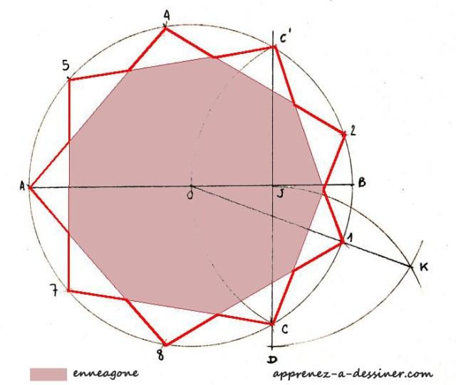 Belle Comment tracer une étoile à neuf branches | Apprenez-a-Dessiner.com JU-95