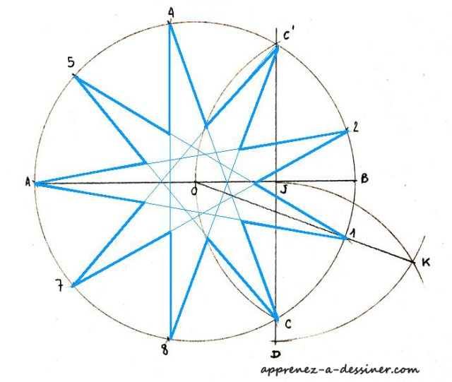 Super Comment tracer une étoile à neuf branches | Apprenez-a-Dessiner.com UX-62