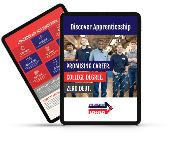 Apprenticeship Brochure - iPad Graphic