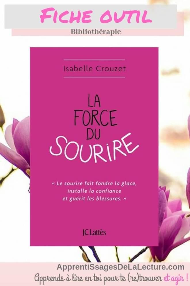 La force du sourire d'Isabelle Crouzet - Fiche de bibliothérapie pour faire entrer le sourire dans votre vie!
